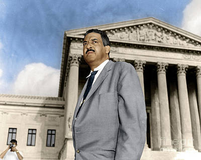Poster featuring the photograph Thurgood Marshall by Granger
