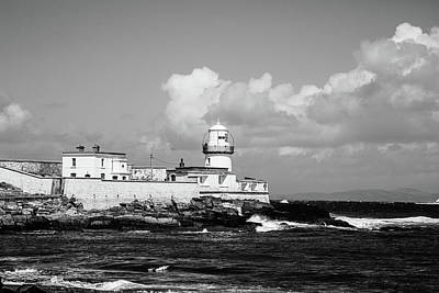 Valentia Island Lighthouse On Cromwell Point - Bw Poster