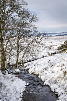 Winter Wonderland In Central Scotland Poster by Jeremy Lavender Photography