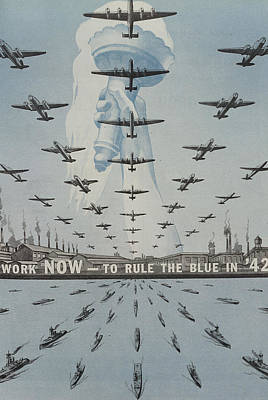 World War II Advertisement Poster by American School