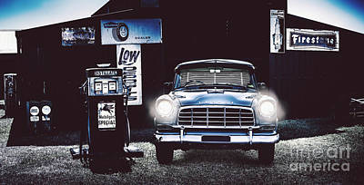 60s Australian Fc Holden Parked At Old Garage Poster by Jorgo Photography - Wall Art Gallery