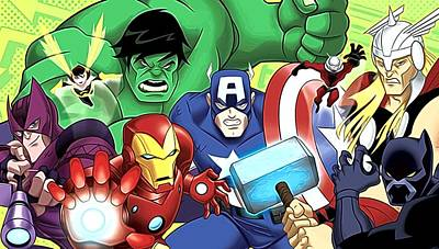 Avengers 1 Poster by Egor Vysockiy