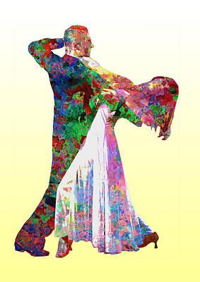 Dance Poster by Elena Kosvincheva