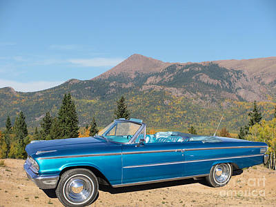 63 Ford Convertible Poster by Steven Parker