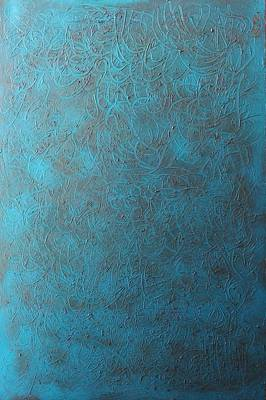 Blue Sky No. 1 Oil On Canvas 24 X 36 Poster by Radoslaw Zipper