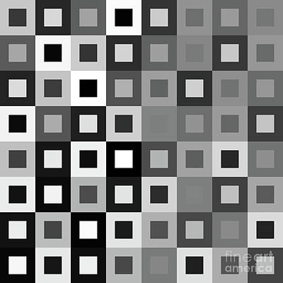 64 Shades Of Grey - 1 - Has Small White Poster by Ron Brown