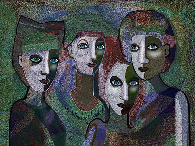 Poster featuring the digital art 649 - Gauntly Ladies by Irmgard Schoendorf Welch