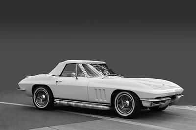 65 Corvette Roadster Poster by Bill Dutting