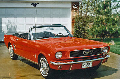 66 Mustang Convertable Poster