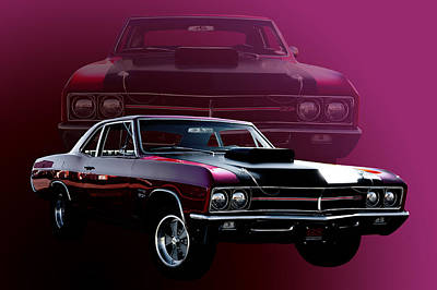 67 Buick Gs 400 Poster by Jim  Hatch