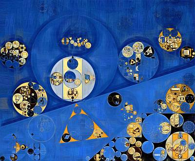Abstract Painting - Lapis Lazuli Poster