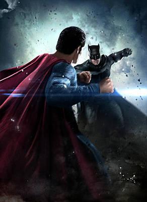 Batman V Superman Dawn Of Justice 2016  Poster by Caio Caldas