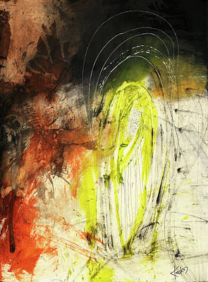 Bold Earth Tone Abstract Painting Poster by Michel Keck