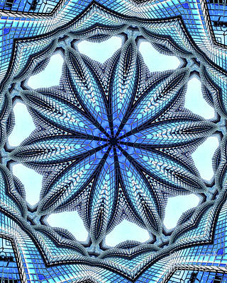 Colorful Blue Kaleidoscopic Design Poster by Amy Cicconi