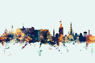 Edinburgh Scotland Skyline Poster