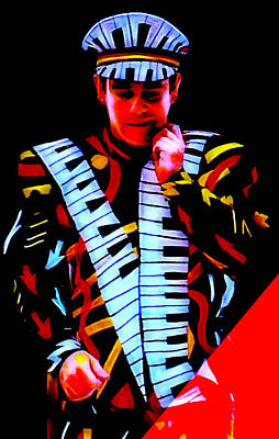 Elton John Collection Poster by Marvin Blaine