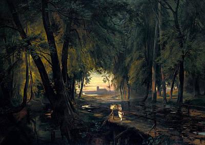 Forest Path Near Spandau Poster by Carl Blechen