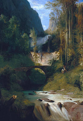 Gorge Near Amalfi Poster by Carl Blechen