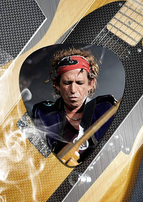 Keith Richards Art Poster by Marvin Blaine