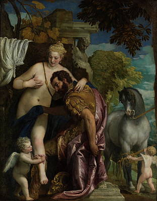Mars And Venus United By Love  Poster by Paolo Veronese