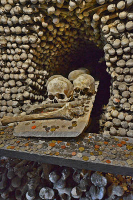 Sedlec Ossuary. Cemetery Church Of All Saints With The Ossuary. Czech Republic. Poster by Andy Za