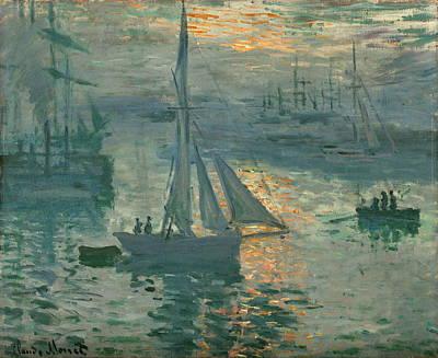 Sunrise Marine Poster by Claude Monet