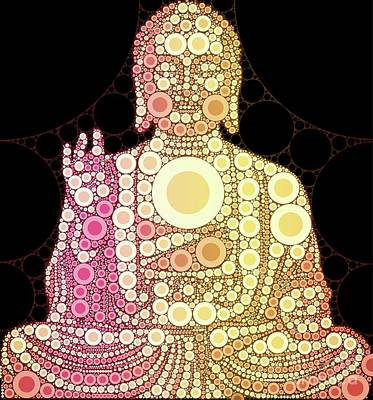 The Buddha, Pop Art By Mary Bassett Poster