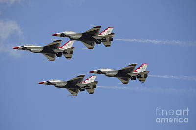 The U.s. Air Force Thunderbirds Fly Poster by Stocktrek Images