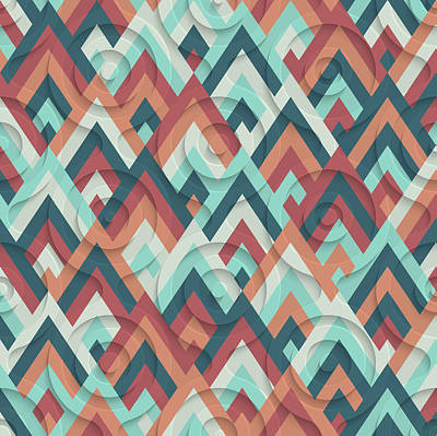 70s Pattern  Poster