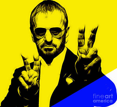 Ringo Starr Collection Poster by Marvin Blaine