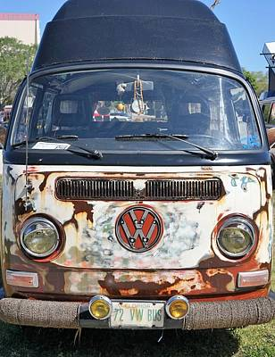 72 Vw Bus Poster by Laurie Perry