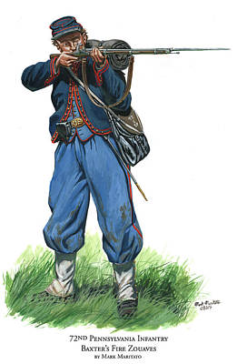 72nd Pennsylvania Infantry - Baxter's Fire Zouaves  Poster