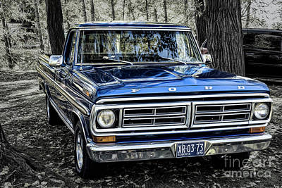 Poster featuring the photograph 73 Ford Pickup by Brad Allen Fine Art