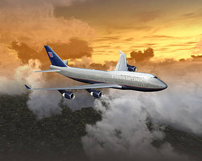 747-400 20x16 04 Poster