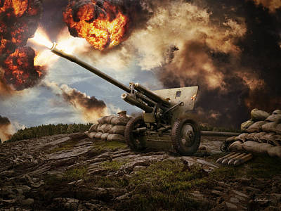 76 Mm Divisional Gun Wwii Artillery Poster by Anton Egorov