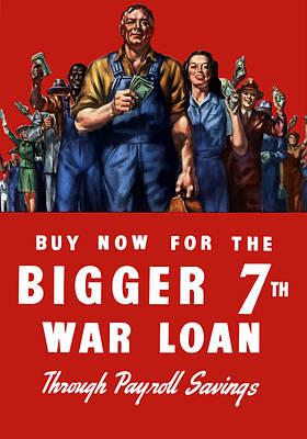 7th War Loan - Ww2 Poster by War Is Hell Store
