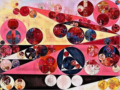 Abstract Painting - Dark Sienna Poster by Vitaliy Gladkiy