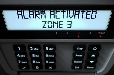 Alarm Panel Activated Poster by Allan Swart