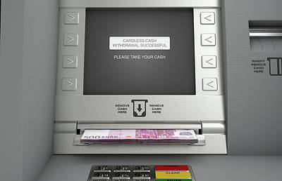 Atm Cardless Cash Withdrawal Poster