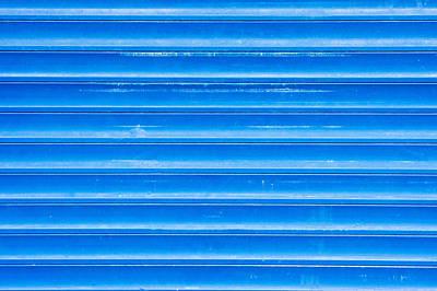 Blue Metal Poster