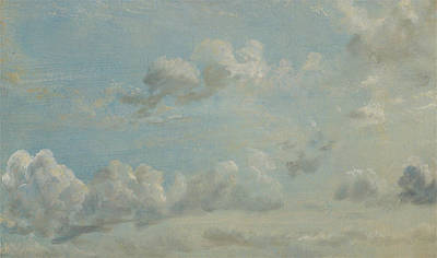 British Title Cloud Study Poster by John Constable