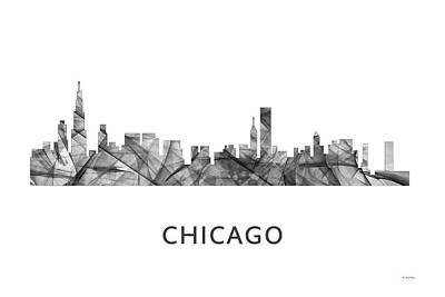 Chicago Illinois Skyline Poster by Marlene Watson