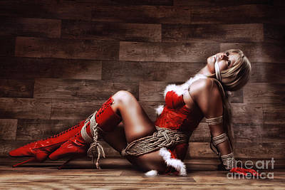 Christmas Babe - Fine Art Of Bondage Poster