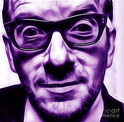 Elvis Costello Collection Poster by Marvin Blaine