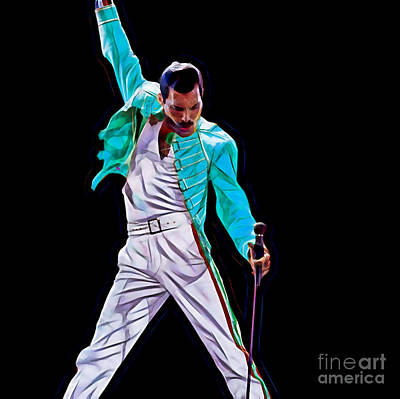 Freddie Mercury Queen Collection Poster by Marvin Blaine