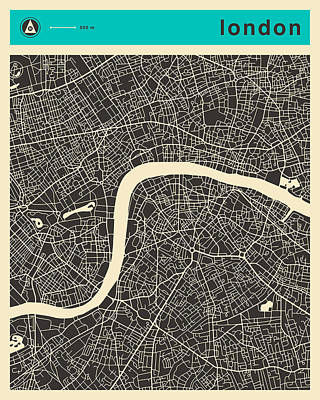 London Map Poster by Jazzberry Blue