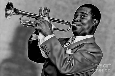 Louis Armstrong Collection Poster by Marvin Blaine