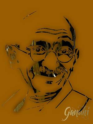 Mahatma Gandhi Collection Poster by Marvin Blaine