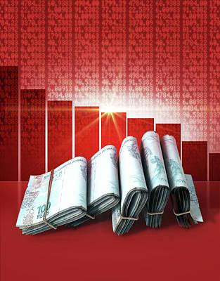 Negative Market Money Poster