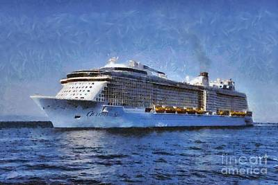Ovation Of The Seas  Poster by George Atsametakis